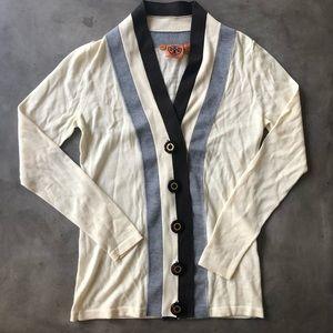 TORY BURCH Stripe Cardigan
